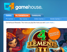 GameHouse.com Redesign